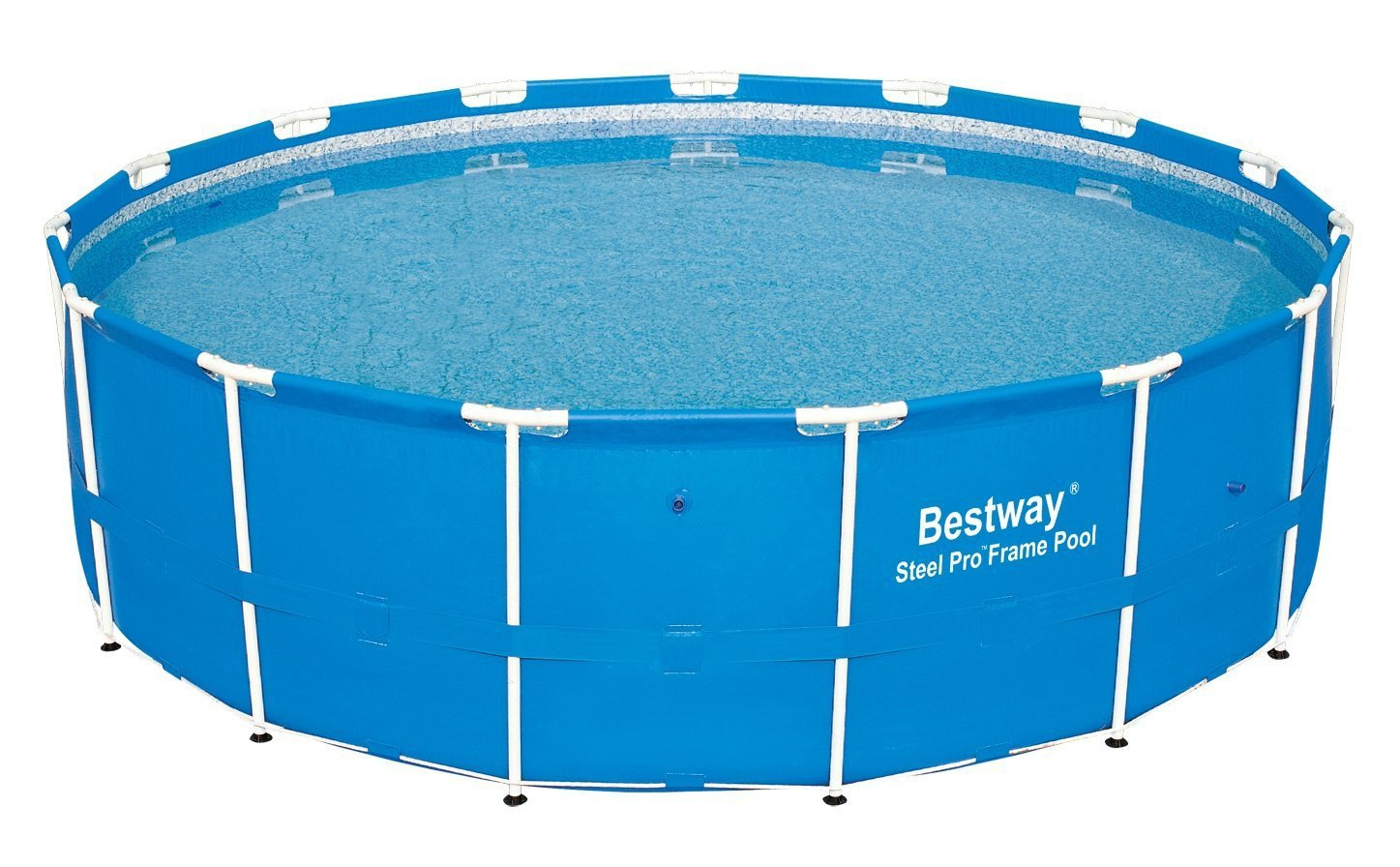"""Bestway 10' x 30"""" Steel Pro Frame Above Ground Family Swimming Pool Set 
