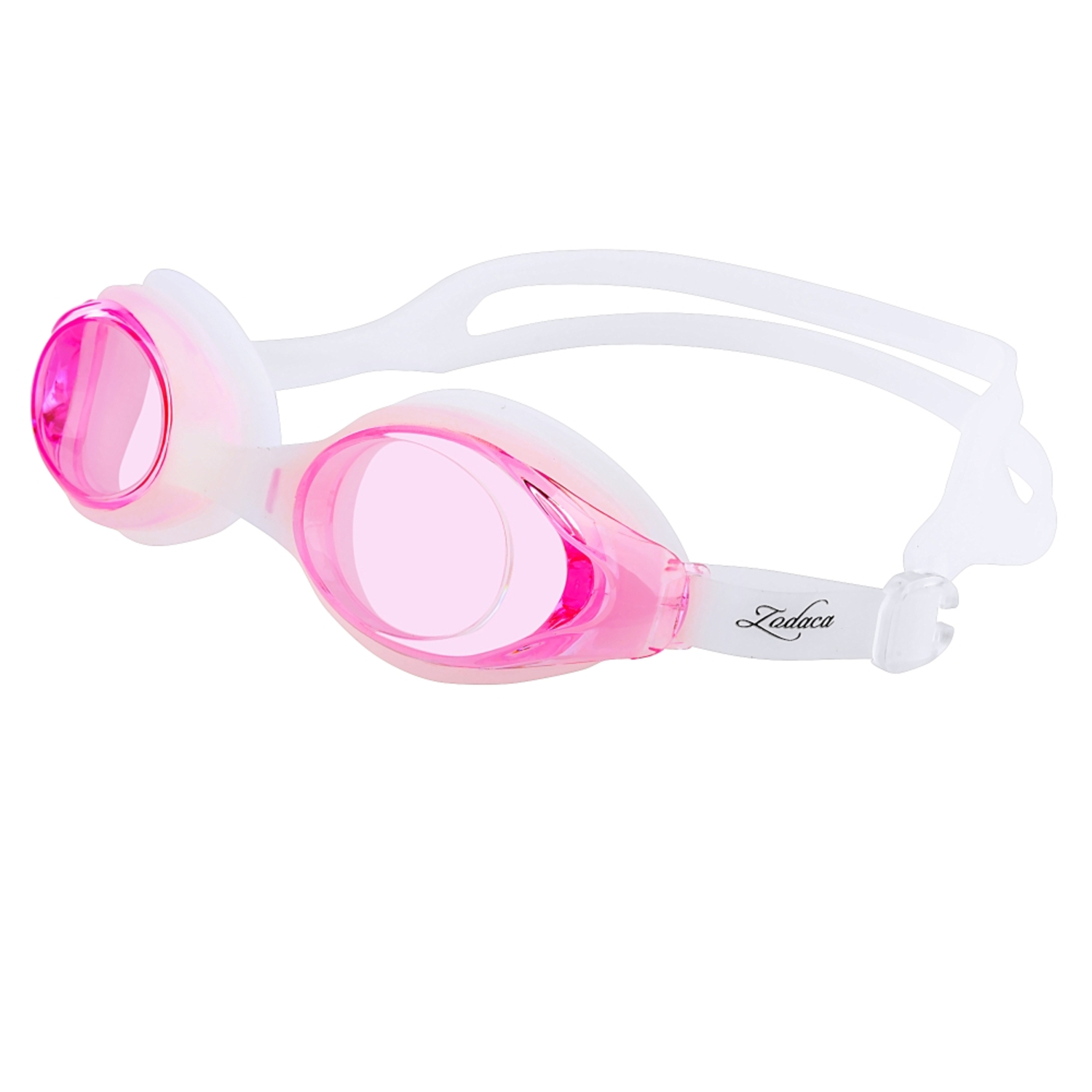 Zodaca Kids Child Adjustable Non-Fogging Anti UV Swim Swimming Goggles Glasses Pink (with Storage Case & Ear plugs ) by