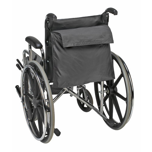 Duro-Med 517-1072-0200 Wheelchair Back Pack - Black Nylon