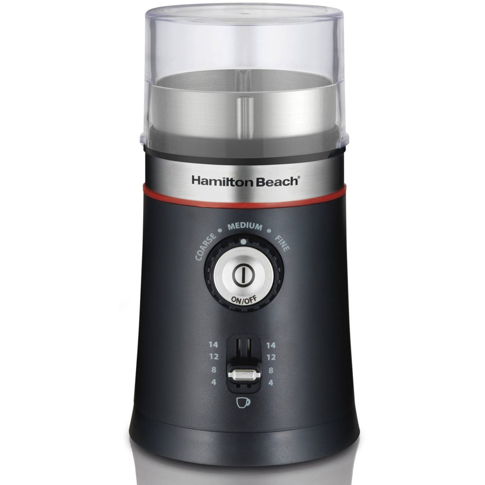 Hamilton Beach Custom Grind Coffee Grinder, New, 14 Cup Capacity, Black, Model 80393