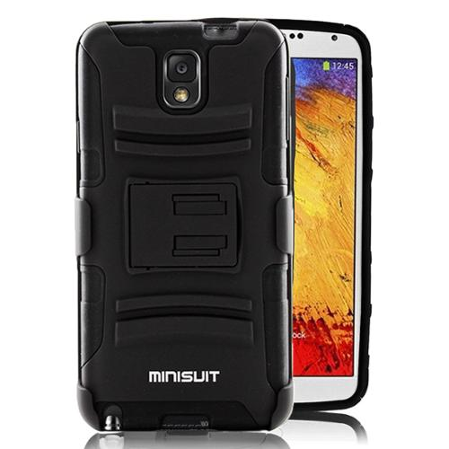 Minisuit Dual-Layer Rugged Kickstand Case + Belt Clip for Samsung Galaxy Note 3