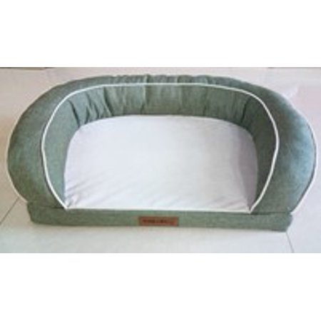 Vibrant Life Comfort Couch Dog Bed, Sage