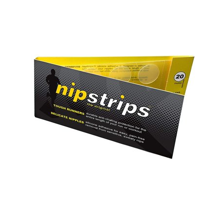 NipStrips BEST NIPPLE CHAFING SOLUTION for Long Distance Runners, Clear Adhesives That Are Discreet & Painless, Guaranteed To Go The Distance on Training & Race Day, Nip Guard Remedy - 20