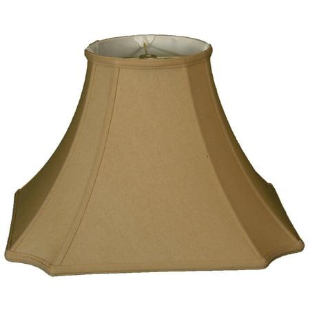 Royal Designs 16  Square Inverted Cut Corner Lamp Shade Antique Gold