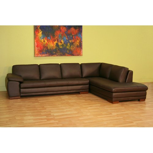 Wholesale Interiors Brown Leather Sectional Sofa