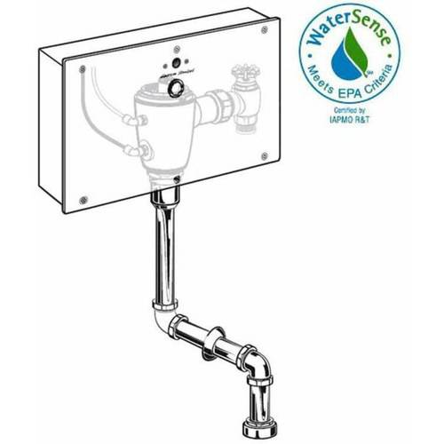 American Standard 6062.401.007 Selectronic Concealed 0.125 GPF Urinal AC Powered Flush Valve with Wall Box, Rough Brass