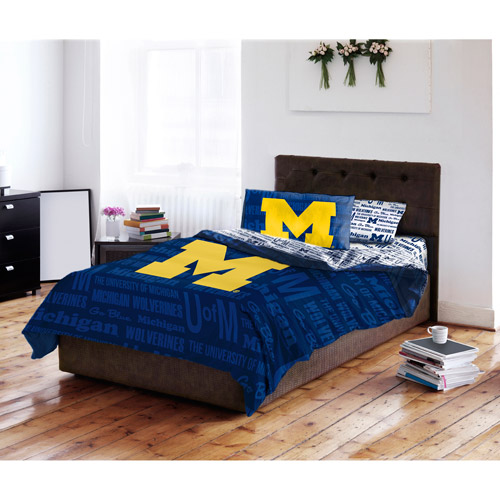 NCAA University of Michigan Wolverines Bed in a Bag Complete Bedding Set