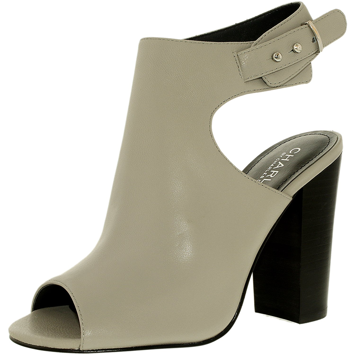 Charles By David Women's Garcia Leather Fog-Sl Soft Ankle-High Boot - 10M