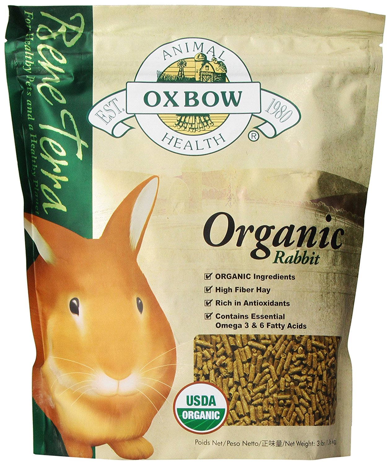 Bene Terra Organic Rabbit Food, Pet Supply By Oxbow by