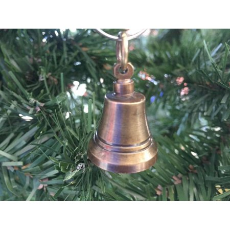 Antique Brass Bell Christmas Ornament 4