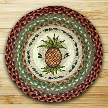 Earth Rugs 49-CH375P Round Chair Pad, Pineapple ()
