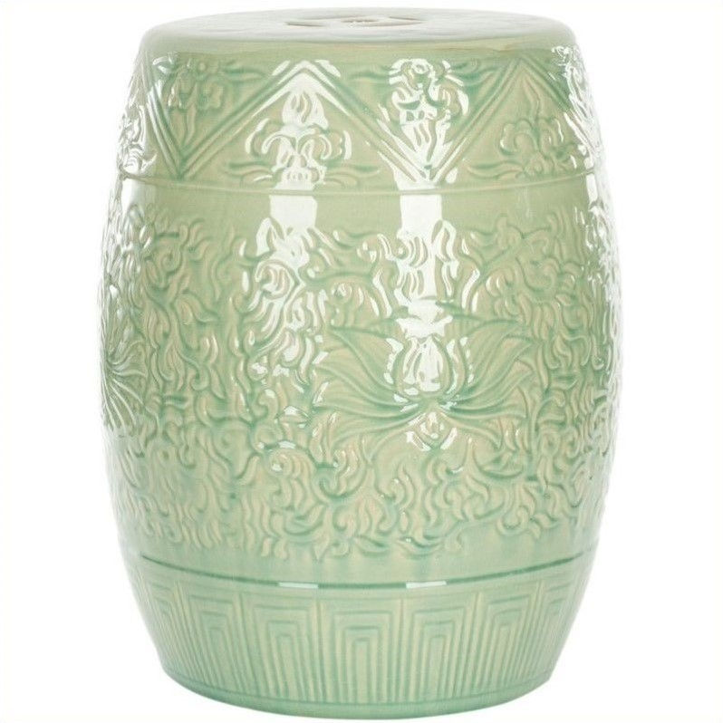 Safavieh Ceramic Garden Stool In Lime Green Walmart Com