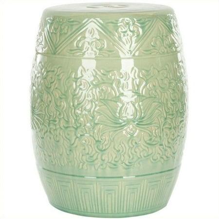 safavieh ceramic garden stool in lime green