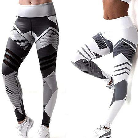 b919db330668b Fashion Yoga leggings Block Printed GYM Running Pants High Waist Leggins  Stylish Exercise Workout Leggings Women