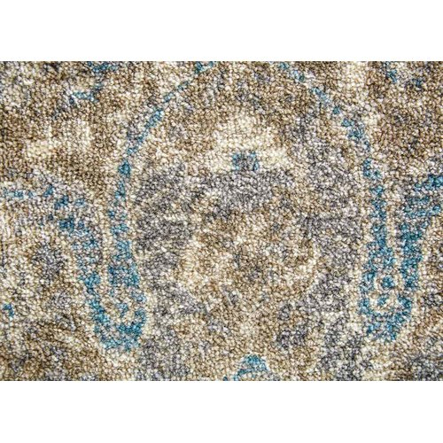 Charlton Home Blaine Cream/Brown/Blue Area Rug