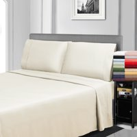 300 Thread Count Egyptian Cotton Solid Deep Pocket Sheet and Pillow case Set by Impressions, California King