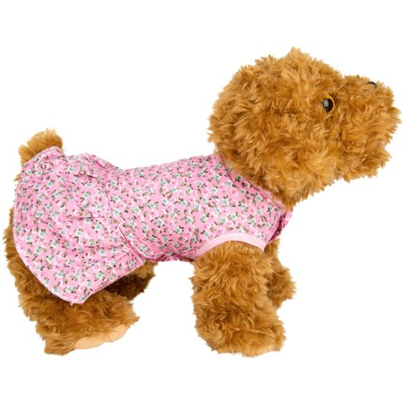 CUECUEPET Cute Blue Floral Casual Everyday Dress for Female/Girl Dogs and Puppies