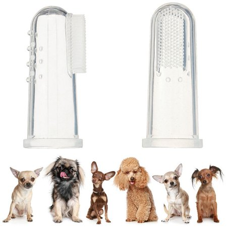 - Dog Finger Toothbrush Dental Hygiene Finger Brushes for Small to Large Dogs Cats and Most Pets, 4pcs Pack