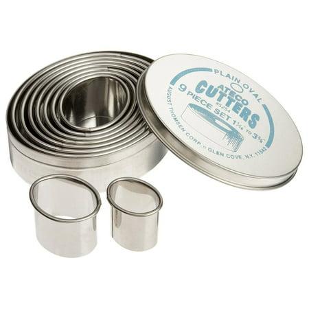 Ateco 9pc Plain Oval Cutter Set Plain Oval Cutter