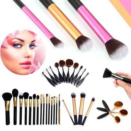 10Pcs Head Oval Cream Puff Toothbrush Shaped Foundation Power Makeup (Oval Shaped Heads)