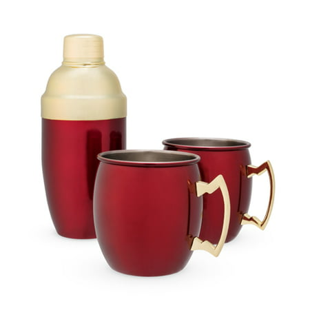 - Rustic Holiday: Red Mule Mug & Cocktail Shaker Gift Set by T