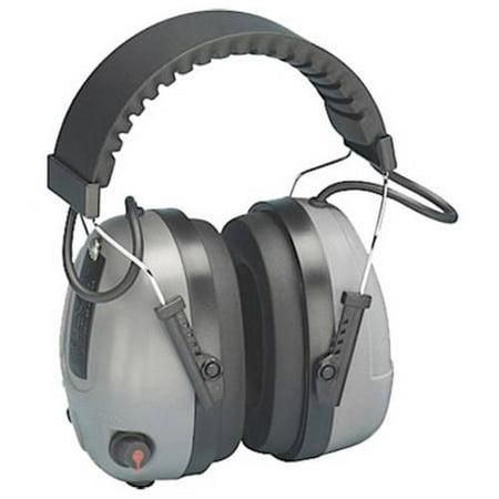 Elvex Corp RCOM-655 Impulse Level Dependent Electronic Muffs, NRR 25dB, Gray