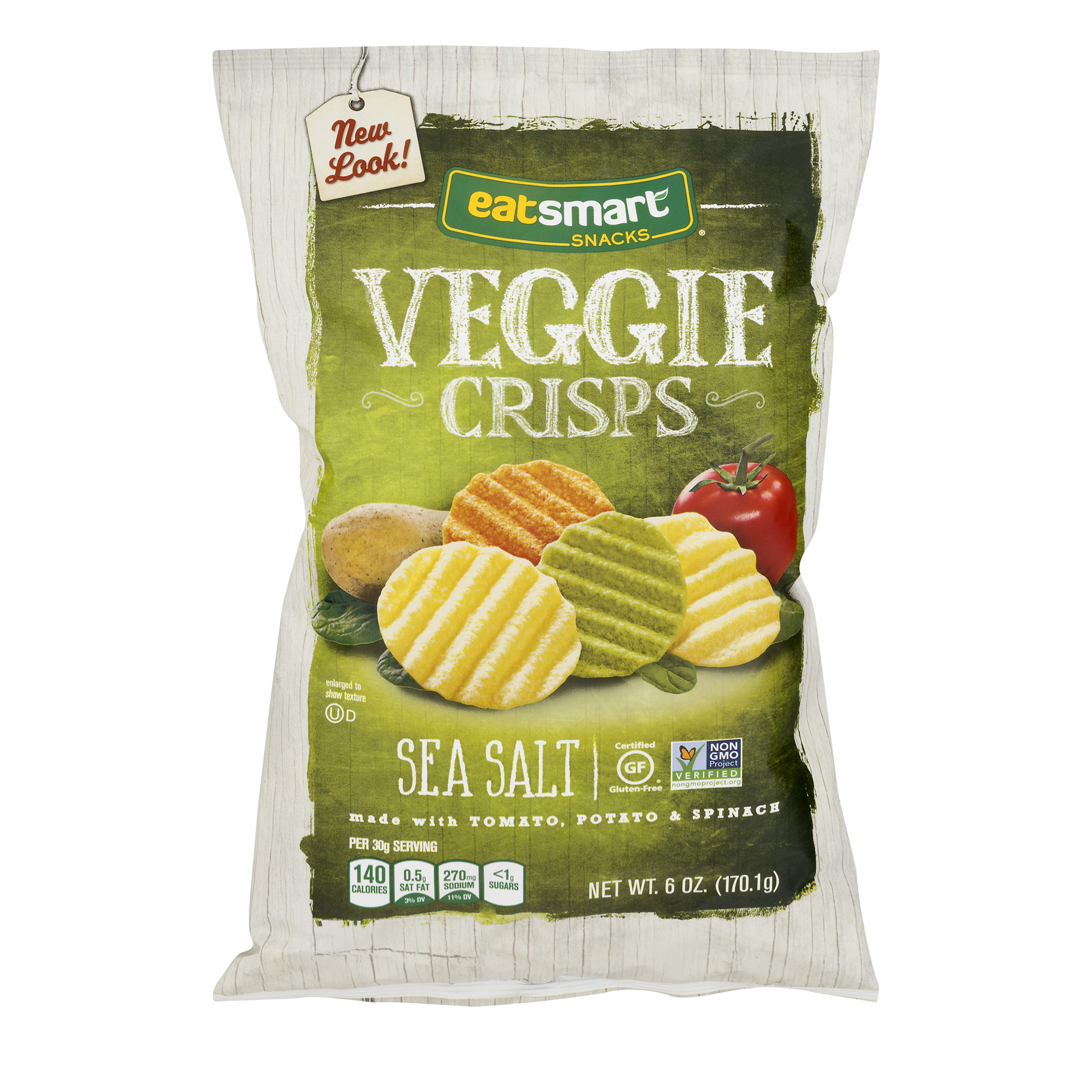 Eatsmart Snacks Veggie Crisps Sea Salt, 6.0 OZ