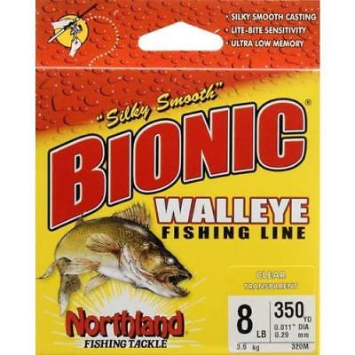 Northland 8 lb Bionic Walleye Fishing Line, Clear, 2Pack
