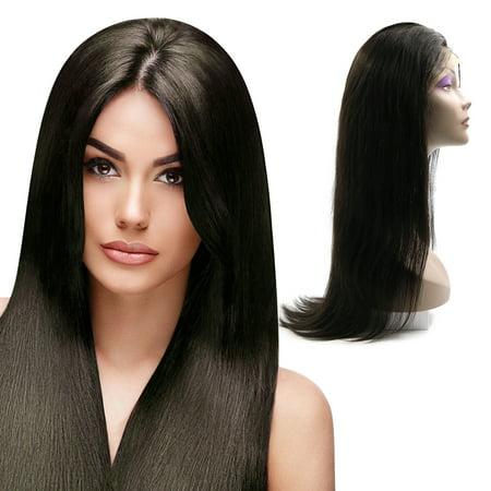 Unique Bargains Straight Human Hair Wigs 28