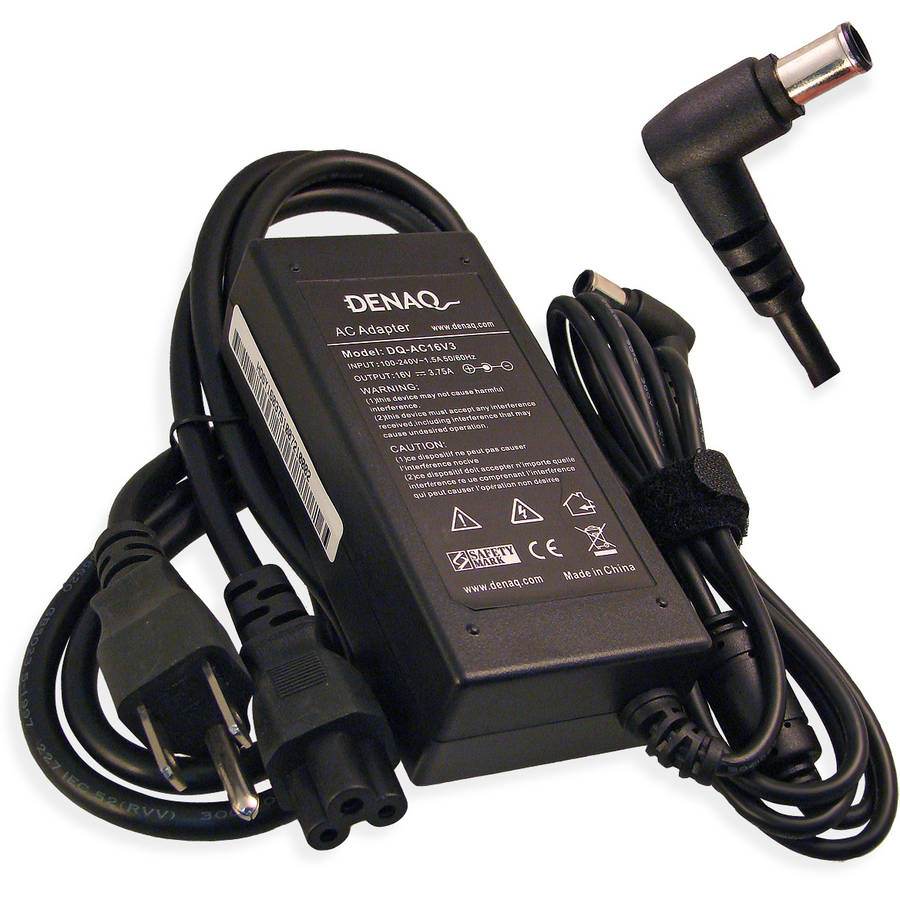 DENAQ 16-Volt 3.75-Amp 6.0mm-4.4mm AC Adapter for Sony PCG Series Laptops