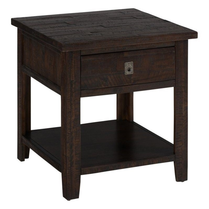 Jofran Kona Grove Square End Table in Deep Chocolate
