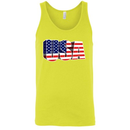 USA Flag Tank Top Men's 3D American Pride