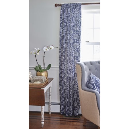 Charleston Window - County Road Charleston Nature/Floral Blackout Rod Pocket Single Curtain Panel
