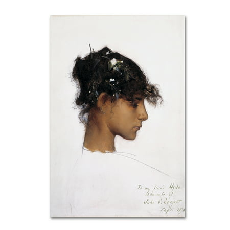 Trademark Fine Art 'Rosina Ferrara Head Of A Capri Girl' Canvas Art by John Singer Sargent