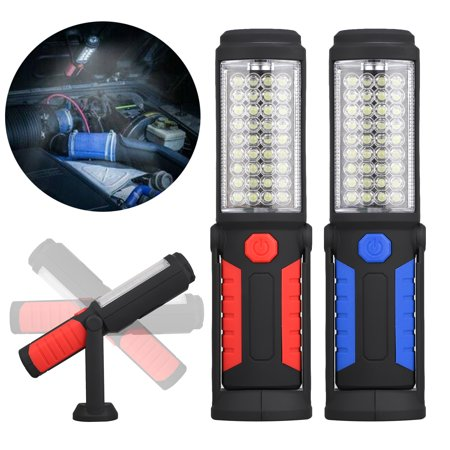 36LED Work Light Battery Powered, COB Work Lights with Magnetic Base LED Inspection Flashlight, with 360? swivel hook, fit for Car Repairing Garage Desk Tent and Household (Used Msr Hubba Hubba Tent For Sale)