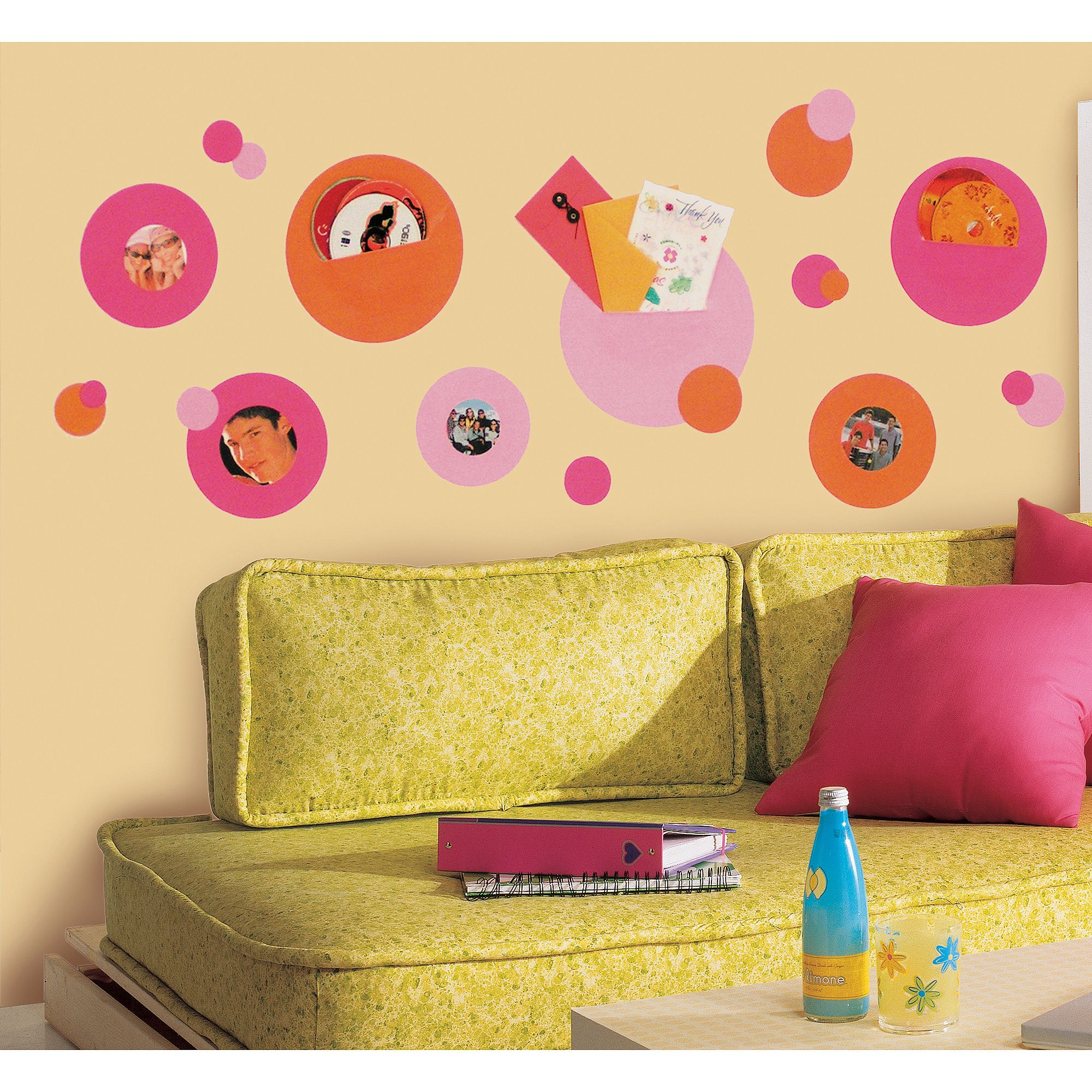 RoomMates Wallpockets Pink Peel and Stick Wall Decals