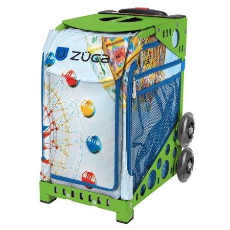 - Zuca Vertigo Sport Insert Bag & Green Frame with Flashing Wheels