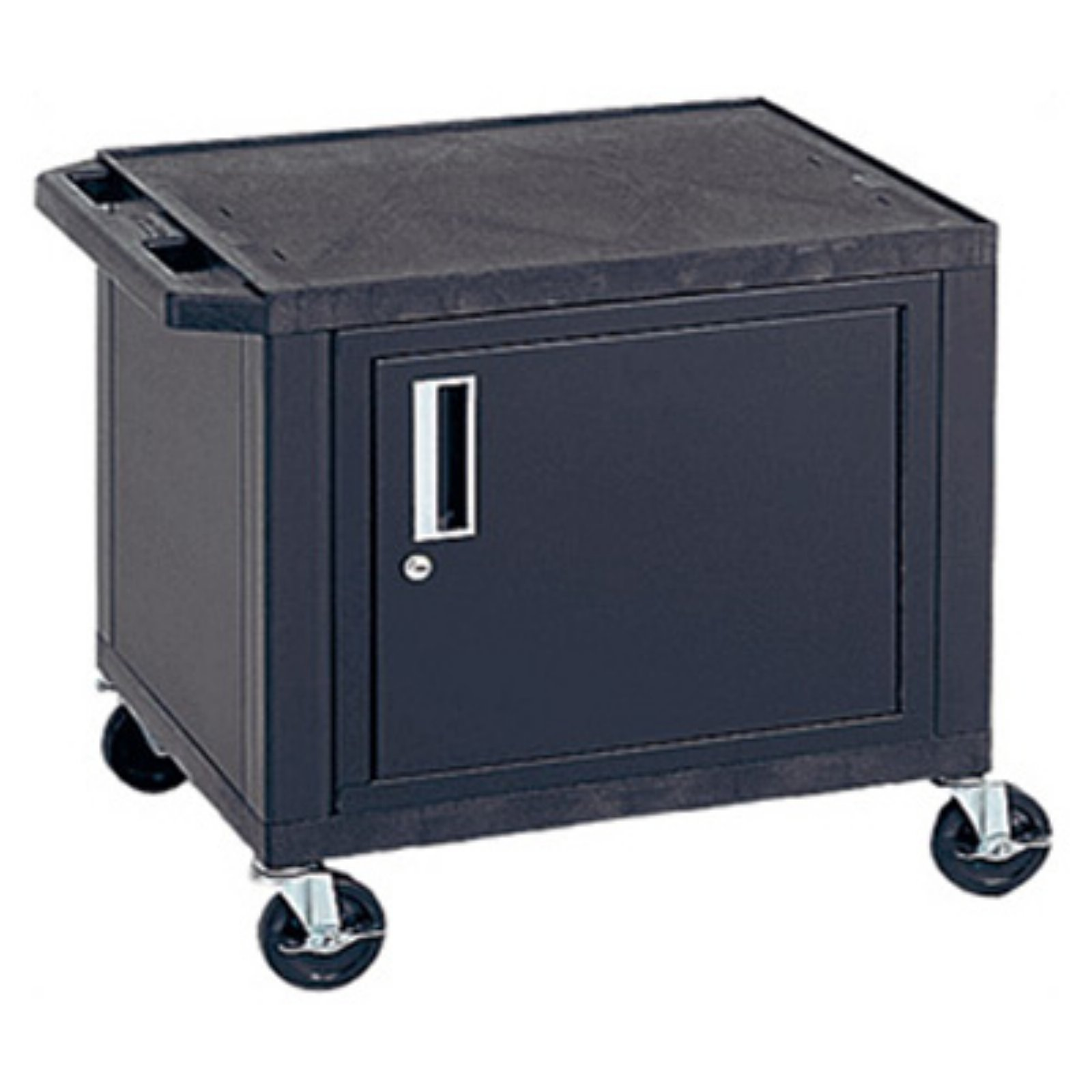 H. Wilson Black Electric Tuffy Utility Cart with Cabinet