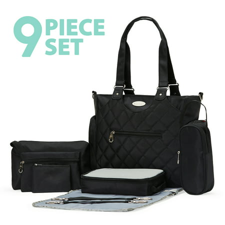 SoHo Collection, Tribeca 9 pieces Diaper Tote Bag set *Limited time offer *