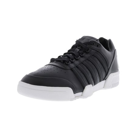 ca891fc0f08f8 K-Swiss Men's Gstaad Black / White Big Logo Ankle-High Leather Tennis Shoe  - 10M