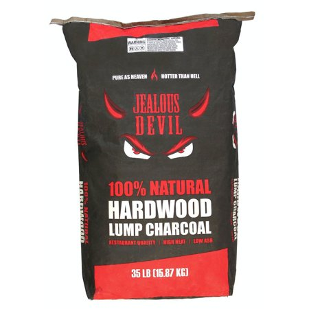 Jealous Devil 100 Percent Natural Hardwood Wood Lump Grill Charcoal, 35 Pounds
