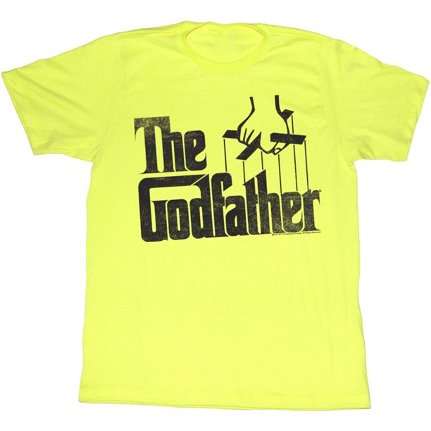 Godfather Men's  Logo Slim Fit T-shirt Yellow Heather
