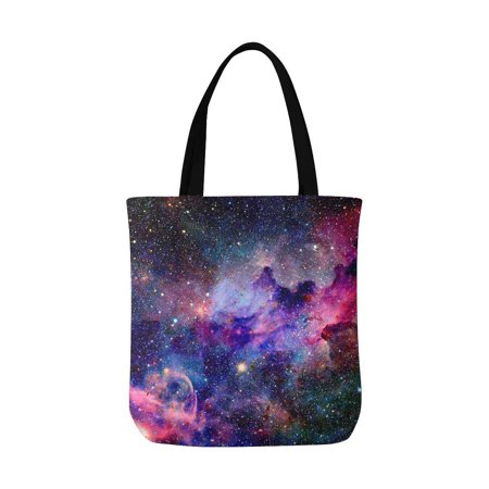 HATIART Nebula Galaxy in Outer Space Canvas Tote Bag Resuable Grocery Bags Shopping Bags Perfect for Crafting Decorating for Women Men Kids - image 1 de 3