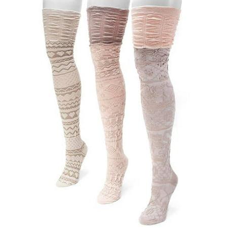 Women's Microfiber Texture Over the Knee Socks 6 x 3.5