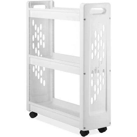 3-Tier Slim Laundry Cart, White