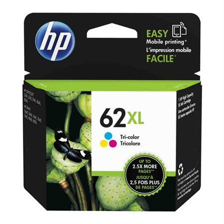 HP 62XL - 11.5 ml - High Yield - dye-based tricolor - original - blister - ink cartridge HP 62XL Ink Cartridge - Tri-color - Inkjet - High Yield - 415 Page 120 Printer Inkjet Cartridge