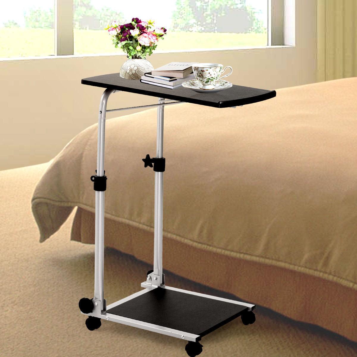 Folding Mobile Rolling Laptop Cart Table Bed Sofa Desk Tv
