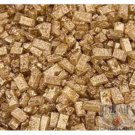 Sugar Crystals Gold Crystalz Bakery Topping  Sprinkles 1 pound colored - Crystal Sprinkles