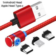 Magnetic Braided Lightning USB Charger Charging Cable For iPhone Samsung New