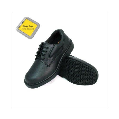 Genuine Grip Menu0026#39;s 7110 Slip-Resistant Steel Toe Oxfords Work Shoes In Black - Walmart.com